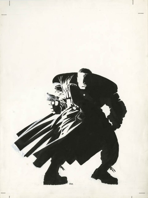 Sin City slipcase cover by Frank Miller.  Source.