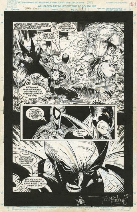 Spider-Man issue 12 page 6 by Todd McFarlane.  Source.