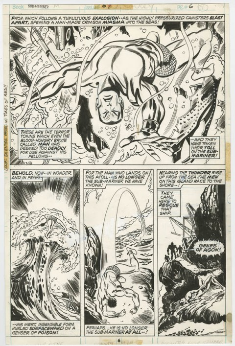 Sub-Mariner issue 67 page 6 by Don Heck and Frank Bolle.  Source.
