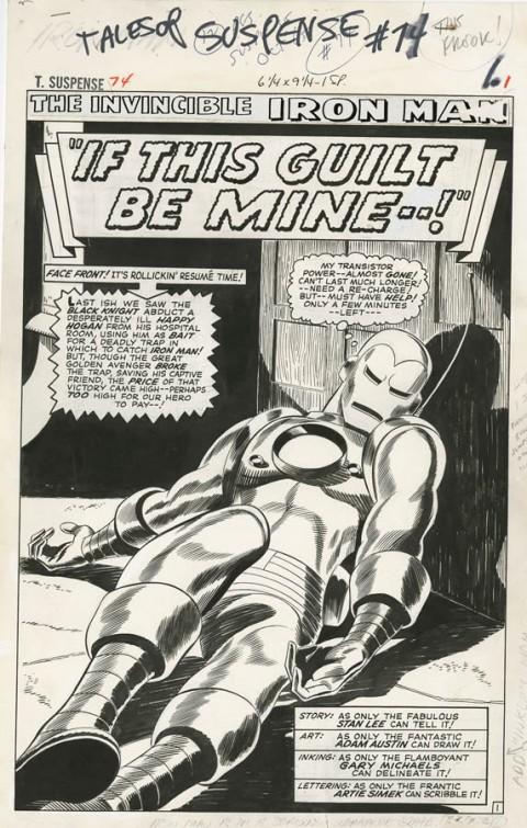 Tales Of Suspense issue 74 splash by Gene Colan.  Source.