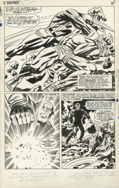 Tales Of Suspense issue 81 page 6 by Jack Kirby and Frank Giacoia.  Source.