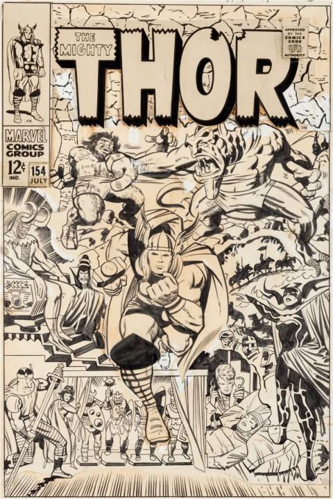Thor issue 154 cover by Jack Kirby and Vince Colletta.  Source.