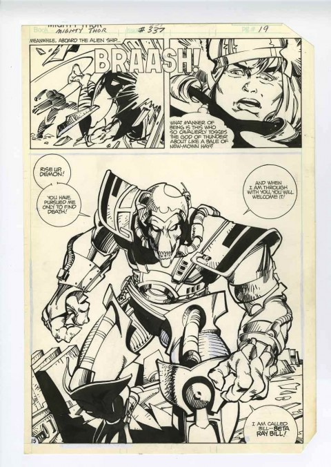 Thor issue 337 page 19 by Walter Simonson.  Source.