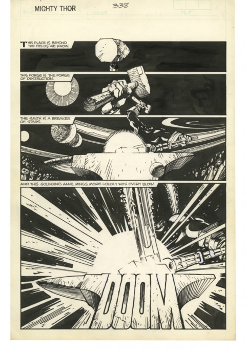 Thor issue 338 page 22 by Walter Simonson.  Source.
