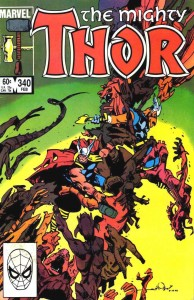 Thor issue 340 cover
