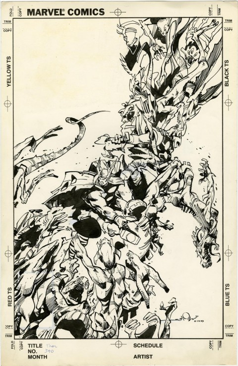 Thor issue 340 cover by Walter Simonson.  Source.