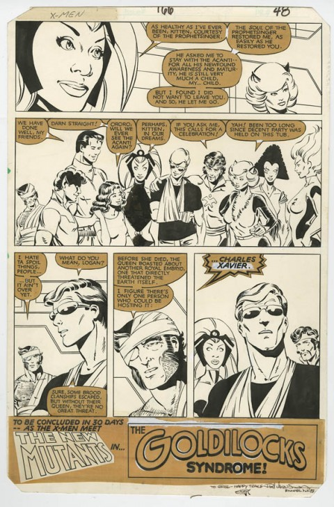 Uncanny X-Men issue 166 page 48 by Paul Smith.  Source.