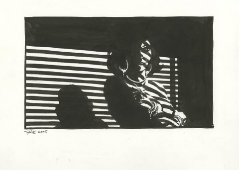 Woman In The Shadows by Tim Sale.  Source.