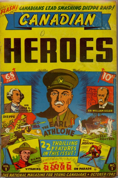 Canadian Heroes Vol. 1 No. 1, the first Educational Projects comic