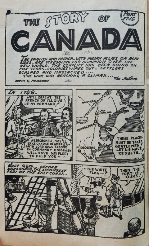 Pietropaolo's History of Canada installment 5 from Canadian Heroes Vol. 2 No. 2
