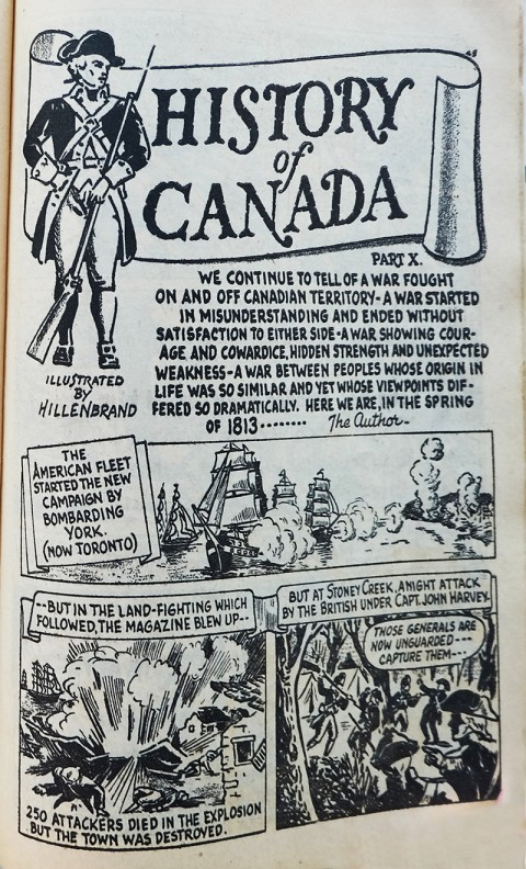 Hillenbrand's History of Canada installment 10 in Canadian Heroes Vol. 3 No. 1