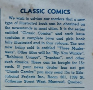 This appeared on the inside back cover of Canadian Heroes Vol. 2 No. 2