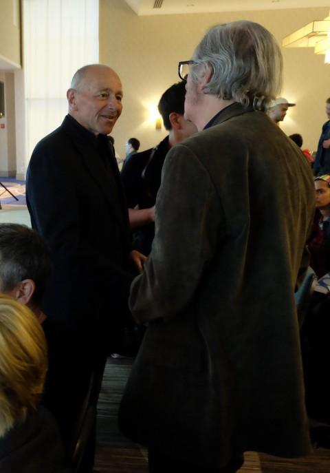 Chris Dingle meeting Gerald Lazare.