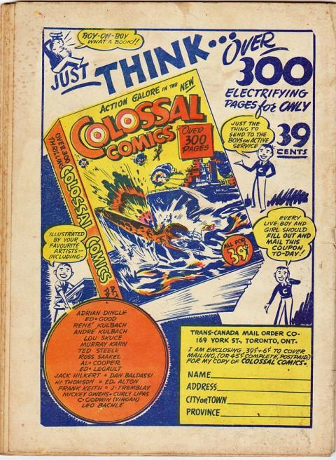 Dime Comics 16 back cover