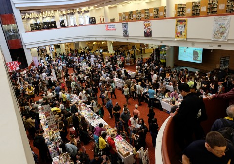 TCAF 2014 main floor at the Toronto Reference Library