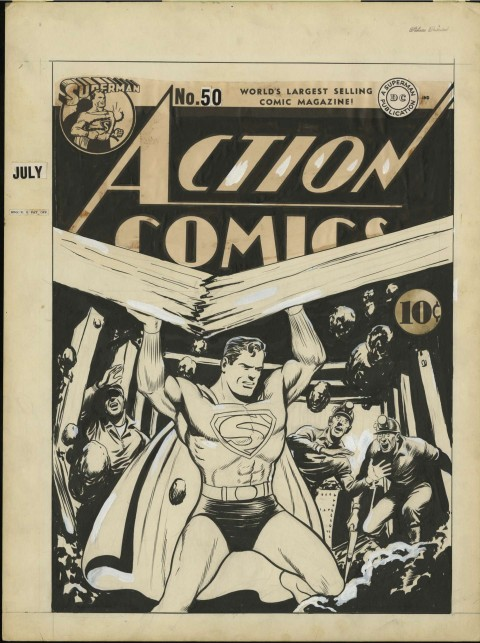 Action Comics issue 50 cover by Fred Ray.  Source.