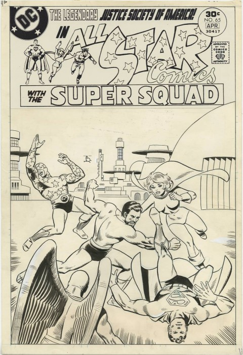 All-Star Comics issue 65 cover by Wally Wood.  Source.