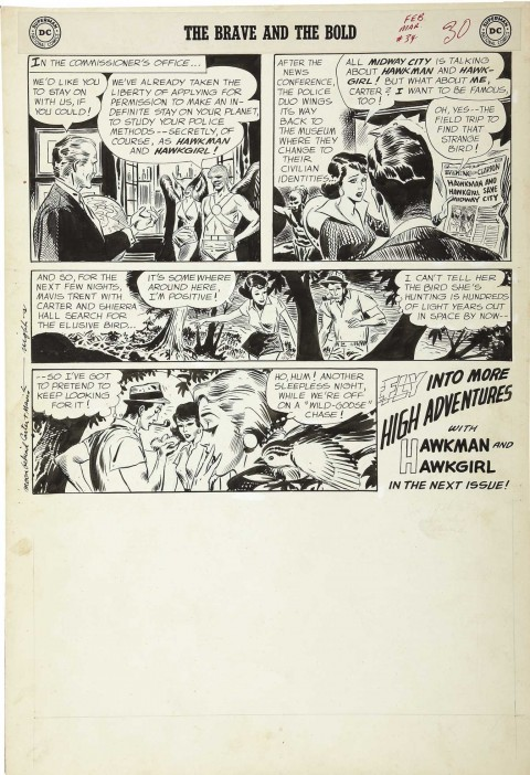 Brave And The Bold issue 34 page by Joe Kubert.  Source.