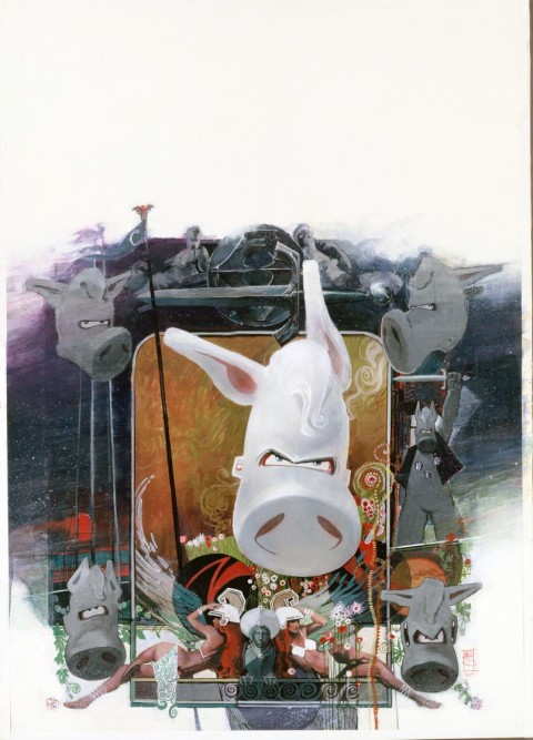 Cerebus by Bill Sienkiewicz.  Source.