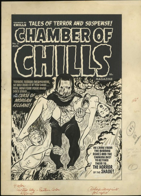 Chamber Of Chills issue 11 cover by Lee Elias.  Source.