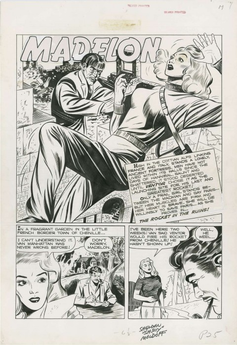 Crime Patrol issue 7 splash by Sheldon Moldoff.  Source.