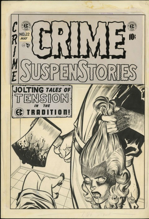 Crime SuspenStories issue 22 cover by Johnny Craig.  Source.