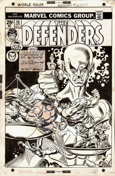 Defenders 16 cover by Gil Kane and Frank Giacoia.  Source.