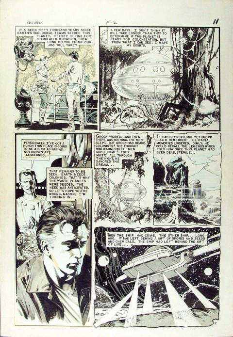 Incredible Science Fiction issue 32 page by Al Williamson.  Source.