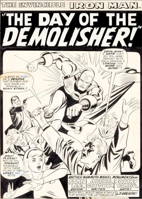 Iron Man issue 2 splash by Johnny Craig.  Source.