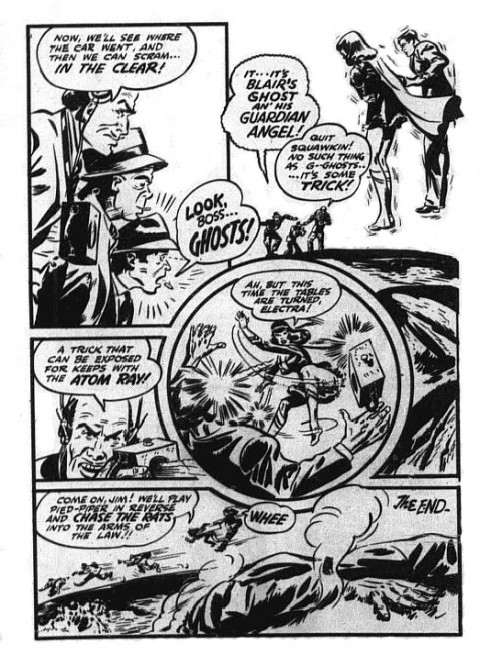 The very last Nelvana page in Triumph Comics