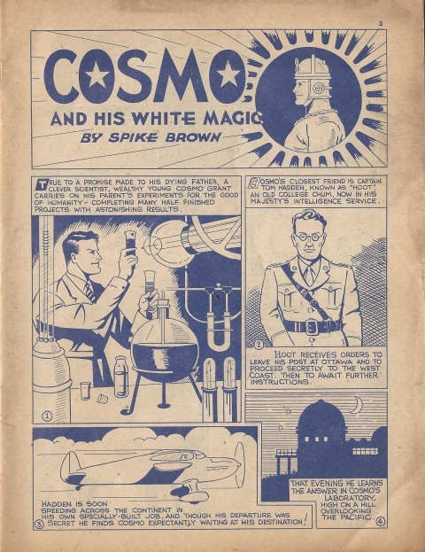 Cosmo splash from Name-It Comics