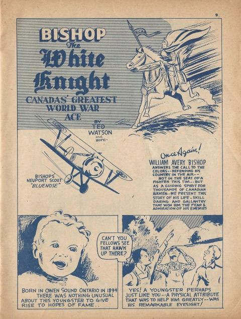 Bishop, The White Knight splash from Name-It Comics