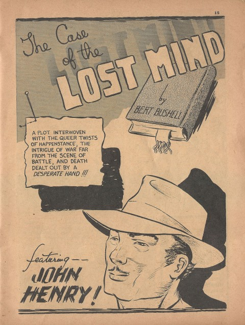The Case of the Lost Mind splash from Name-It Comics