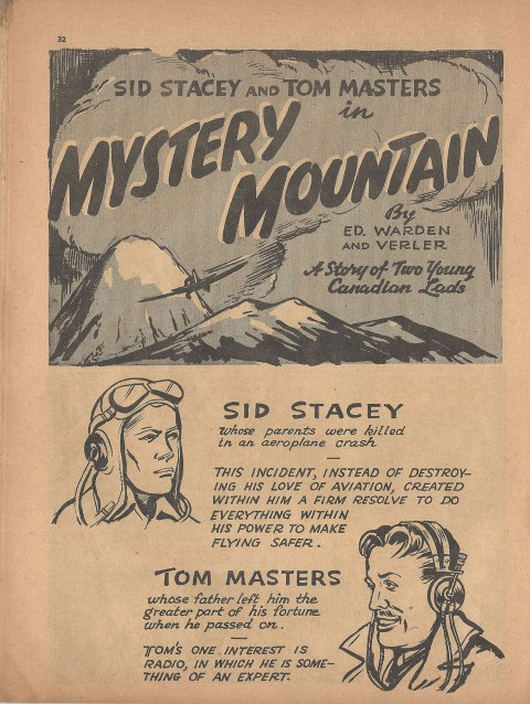 Mystery Mountain splash from Name-It Comics