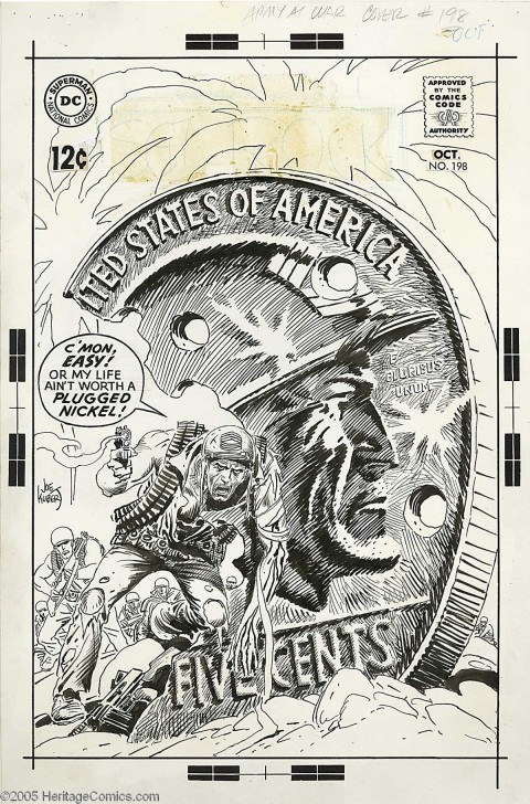 Our Army At War  issue 198 cover by Joe Kubert.  Source.