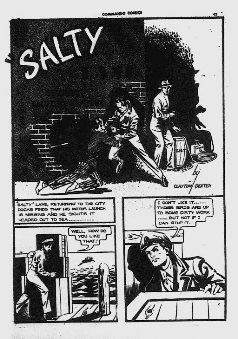 The first Salty Lane story in Commando Comics 18