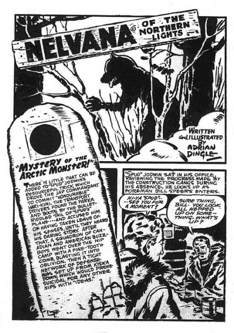 The splash for the strange out of place Nelvana story in Triumph No. 17
