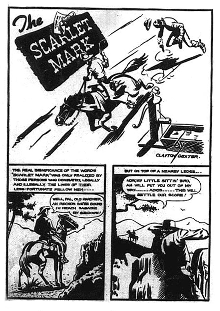 The only Scarlet Mark story to appear, from Triumph Comics 28