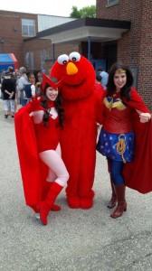 Scarlett Witch, Wonder Woman, Elmo