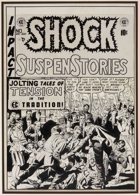 Shock SuspenStories issue 2 cover by Wally Wood.  Source.