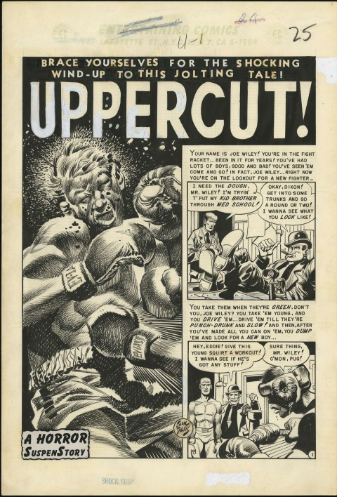 Shock SuspenStories issue 4 splash by Jack Davis.  Source.