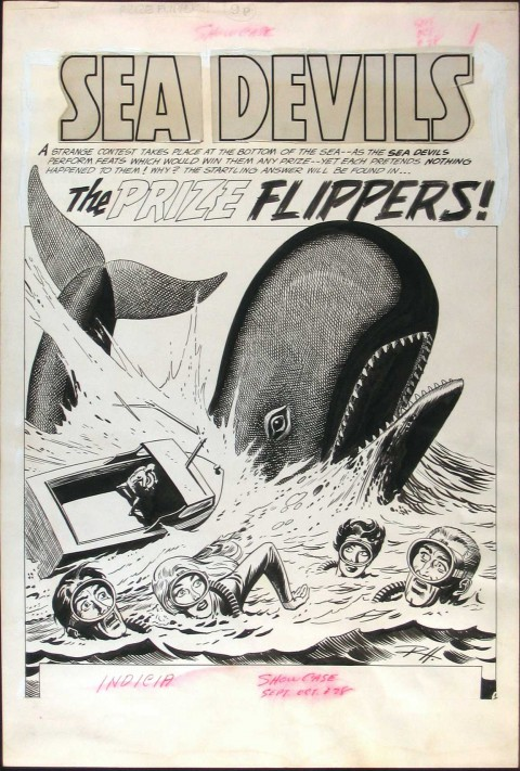 Showcase issue 28 splash by Russ Heath.  Source.