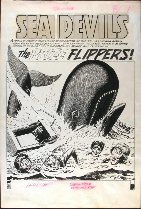 Showcase issue 28 splash by Russ Heath.  Source.