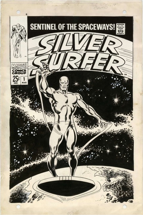 Silver Surfer issue 1 cover by John Buscema and Joe Sinnott.  Source.
