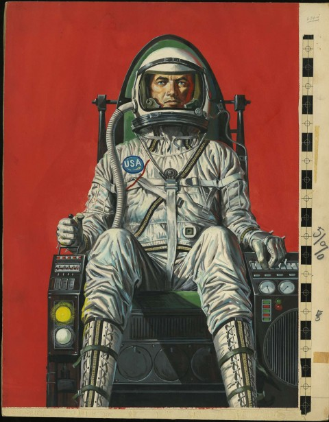 Spaceman issue 2 cover by Bruce Minney.  Source.