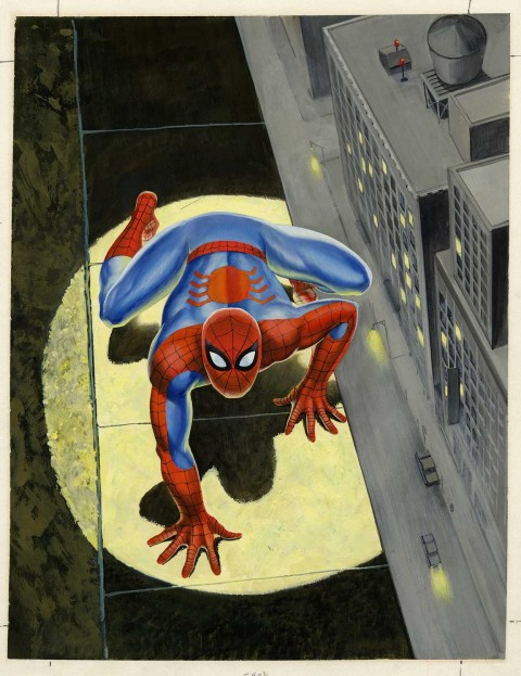 Spectacular Spider-Man Magazine issue 1 cover by Harry Rosenbaum and John Romita.  Source.