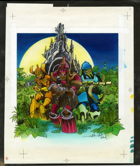 Star Slammers cover color guide by Walt Simonson and Louise Simonson.  Source.