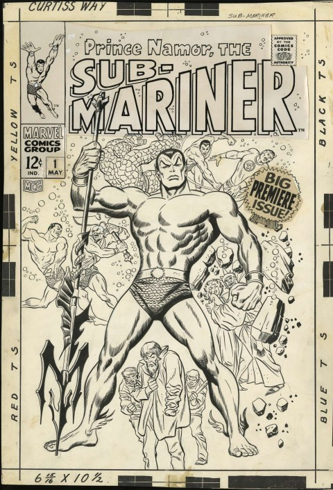 Sub-Mariner issue 1 cover by John Buscema.  Source.