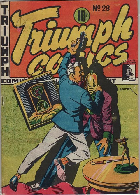 Clayton Dexter front cover from Triumph Comics NO. 28