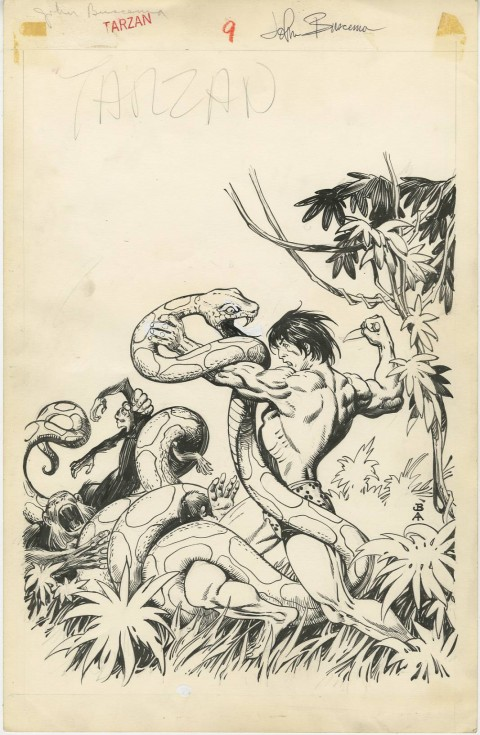 Tarzan issue 9 cover by John Buscema and Alfredo Alcala.  Source.